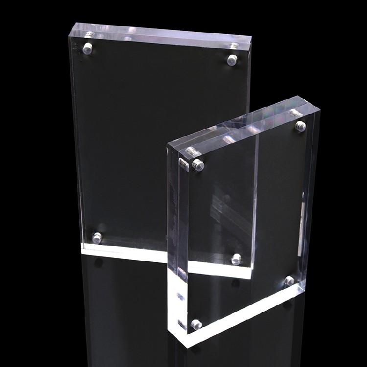 Factory Custom Cheap 4x6 5x7 8x10 Clear Acrylic Magnetic