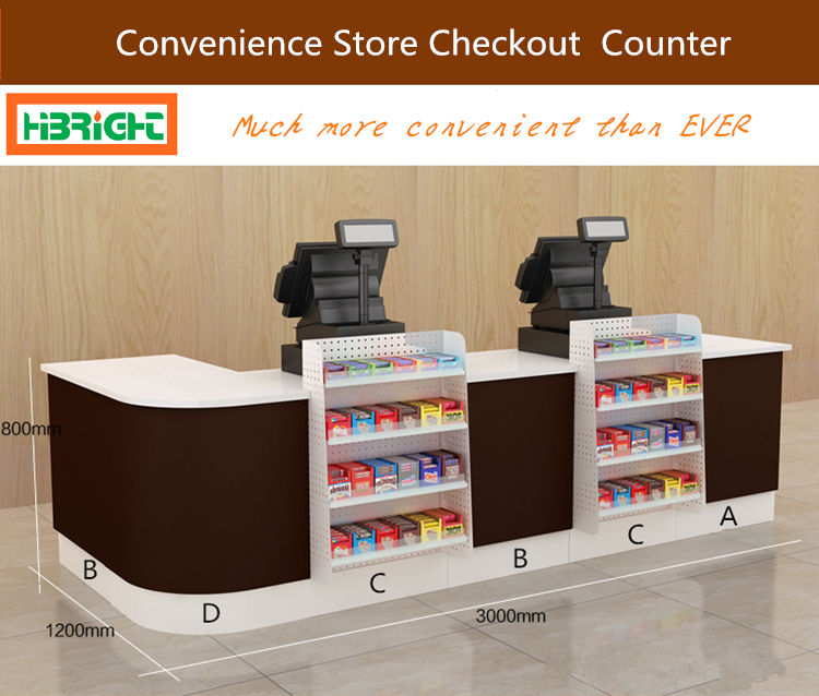 Cashier Table Desk Design Supermarket Checkout Counter