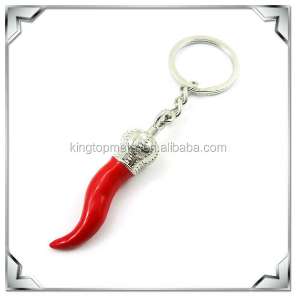 red shark tooth key ring