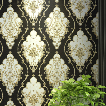 Damask Pvc Wallpaper Home Art Decor