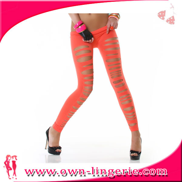 Wholesale running sports legging ployester spandex running pants tights elastic pants