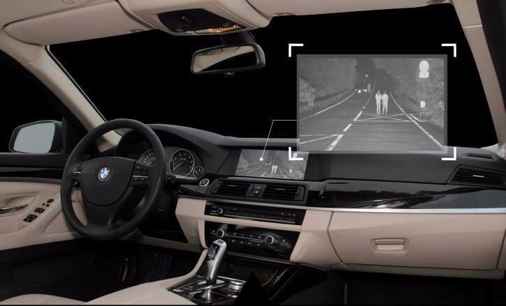 Thermal Camera Module in Night Vision Car Camera Driving