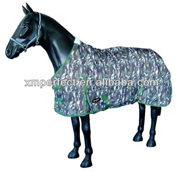 camo equestrian clothing;600D camo fabric high fashion equestrian clothing;turnout horse riding clothing