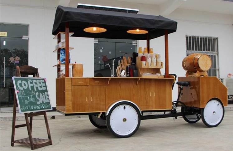Street Vending Trike Cart For Popcorn Coffee Ice Cream