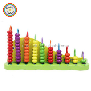 YHHM103 RDT Kindergarten 1+1 Wood Abacus as Early Intelligence Teaching Aids Math Learning Wood Baby Educational Toys