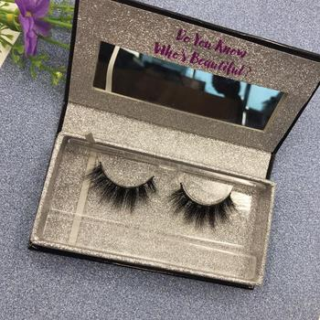 5fadbad3c4e Wholesale private label mink eyelashes real mink 3d lashes glitter custom  eyelash packaging with mirror for