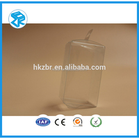 Fashion Clear PET Folded Plastic Blister Box Packaging for Toys , folding cube box packaging