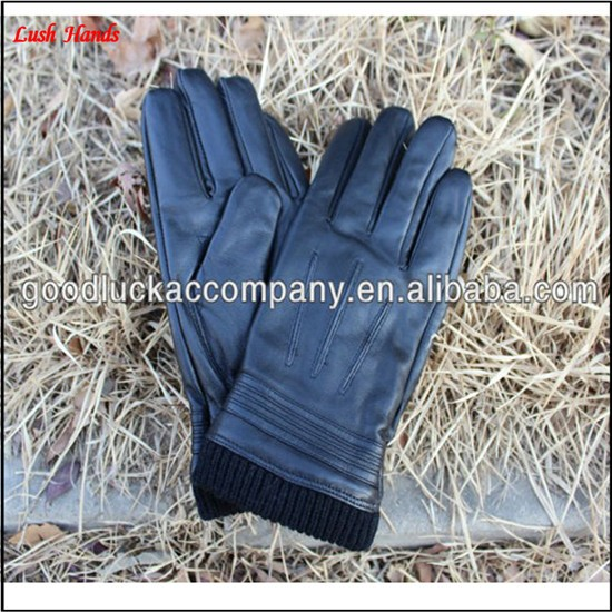 Men's stylish winter leather gloves manufacturer of custom