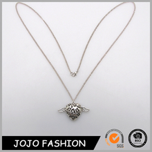 Latest silver chains heart shaped full neck covering necklace design