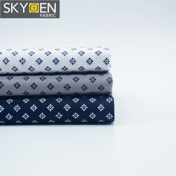 b2c2d108235 Woven fabric rolls organic 100% cotton printed printing dress clothing  shirting men s shirt material wholesale