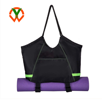 Exercise Yoga Mat Carrier Tote Bag with 2 Extra Pockets