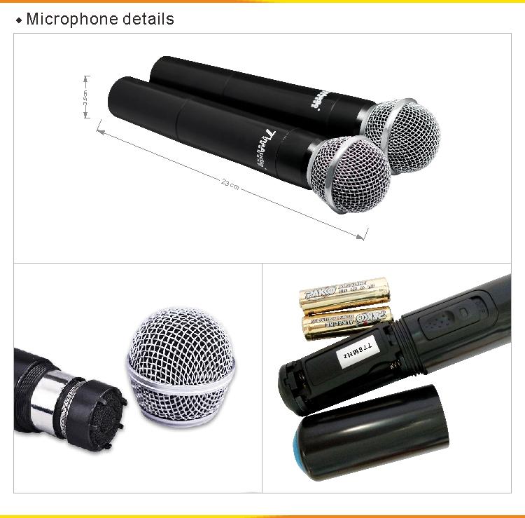 UHF microphones