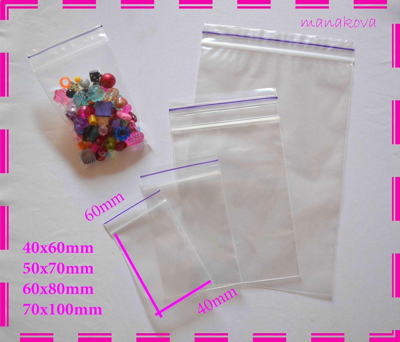 "1000 Large GL6 4/"" x 5.5/"" Clear Grip Self Press Seal Zip Lock Plastic Bags"