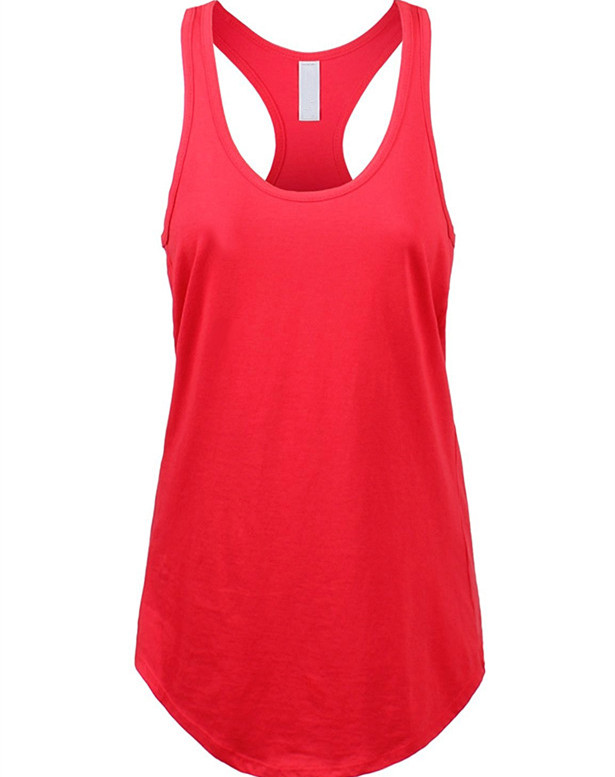 Online Shopping Women's Basic Jersey Racer-Back Tank Top with Scallop Bottom 100%Cotton Ladies Singlets