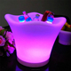Nightclub rechargeable led ice bucket flashing cooler beer wine plastic Led lighting Ice bucket