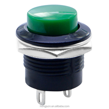 PB02-PM-G 6A 125VAC 3A 250VAC Green cap G Push button switch.