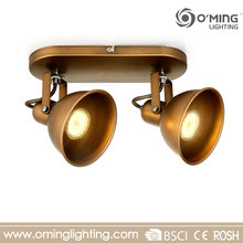 China move head decorative antique brass ceiling spot led light track light gu10 24v lamps