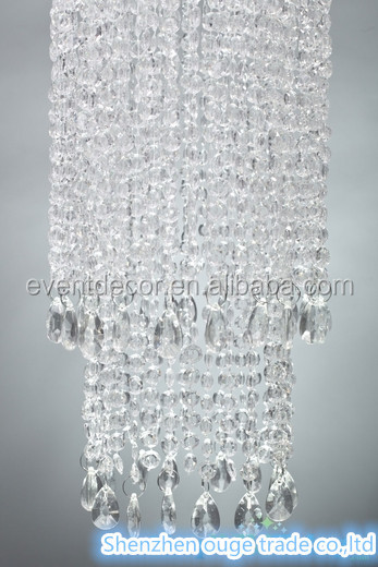 Long Crystal Hanging Chandelier For Wedding Event Decoration