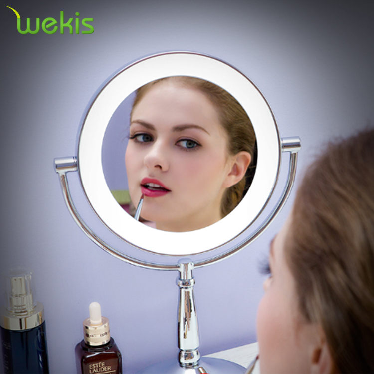 Magnifying 5X Table Hollywood Sytle Makeup Mirror With LED Light