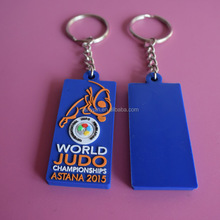 3D PVC rubber silicone World Judo Championships key chain