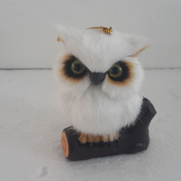 with bright eyes feathered owl decoration feather scare owl