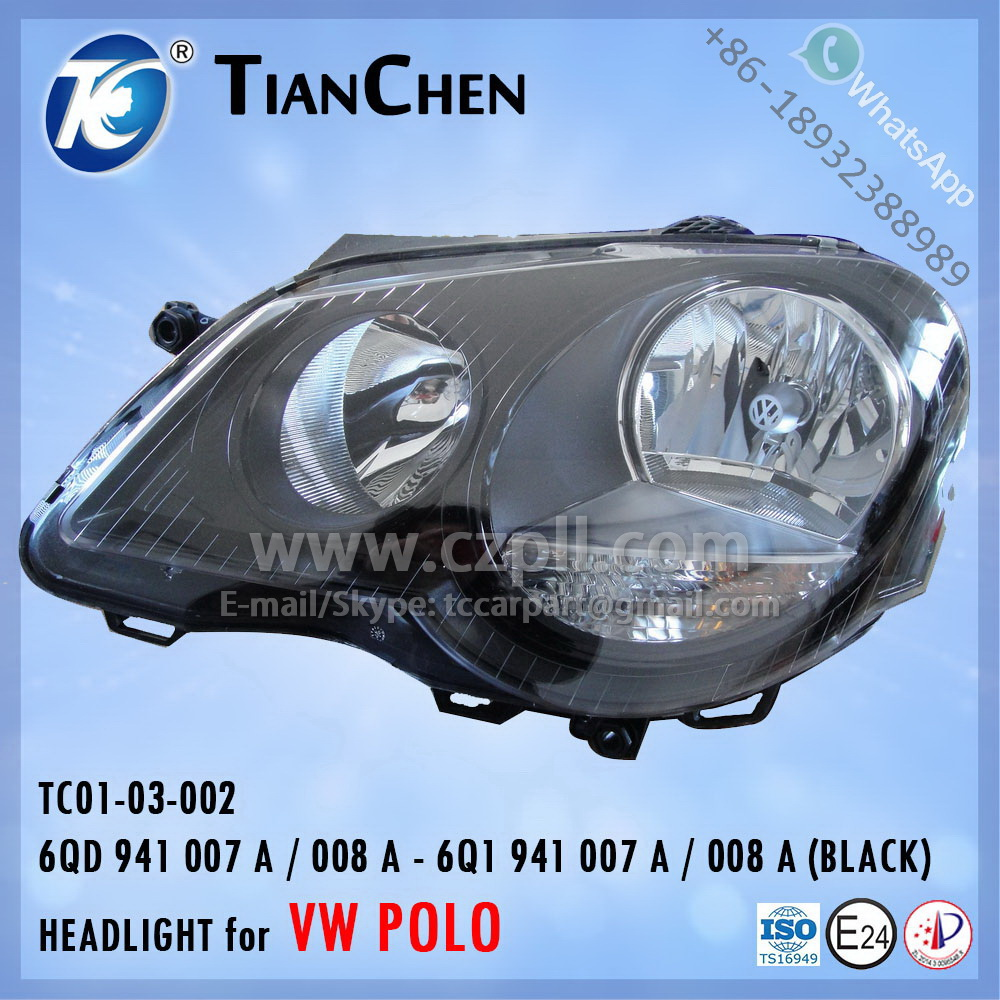 HEADLIGHT for VW POLO 2005 - 2009 EU: 6Q1 941 007A / 008A 6QD 941 007 A / 008 A