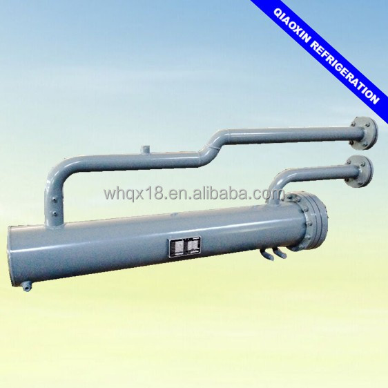 Double system U shaped shell and tube type water cooled heat pump large capacity heat exchanger evaporator