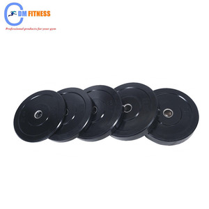 Higher density gym equipment 100% Black Rubber Bumper/Pass 30000 times dropping testing from 1.5 metre height