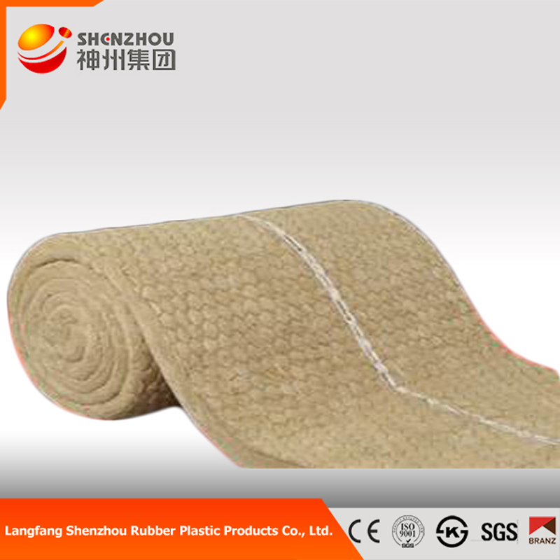 Rock wool blanket with wire mesh for power plant and boiler insulation