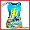 Dye sublimation specialized design running wear colorful running singlet