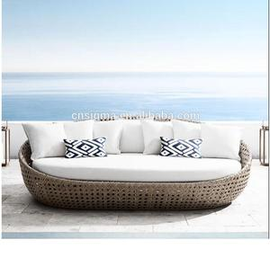 Hot sale hampton bay patio modern outdoor garden day bed furniture wicker
