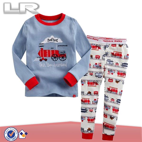 "2Pcs Baby Toddler Boy Fashion Clothes Sleepwear Pajama Set ""Toot Toot Train"""