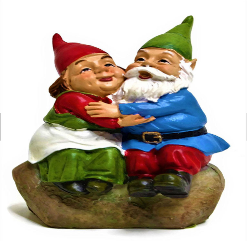 Medium Scale Garden Statue Garden Figurine and Home Decoration-Lovely Gnome Perfect Fit for Small Garden or Some Sizes of Fairy