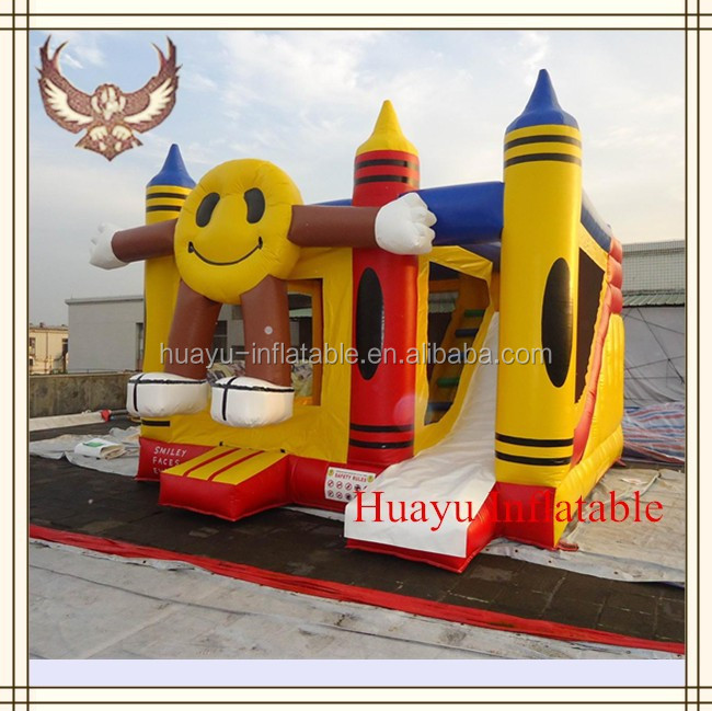 Kids game inflatable happy face bounce house