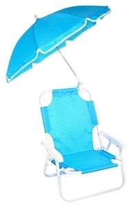 Redmon Baby Beach Chair and Matching Umbrella, Blue (Discontinued by Manufacturer)