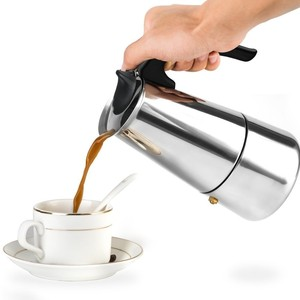 Promotional Stainless Steel 6 Cup Moka Espresso Portable Coffee Maker
