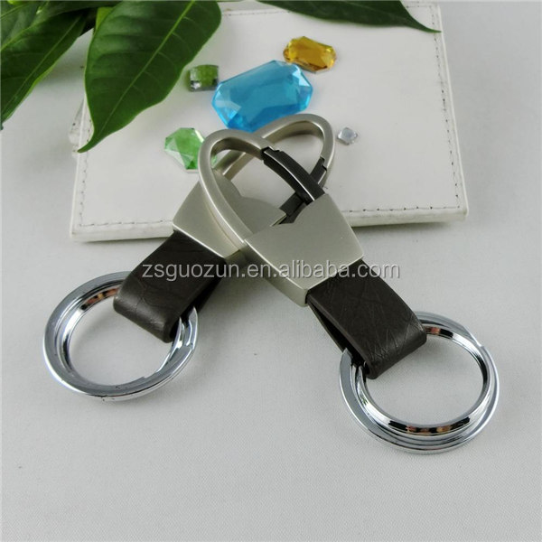 Promotion decorative metal key ring key holder key fob car key chain for hotel