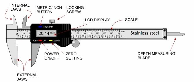 Stainless steel 150mm 6inch Electronic Digital Vernier Caliper