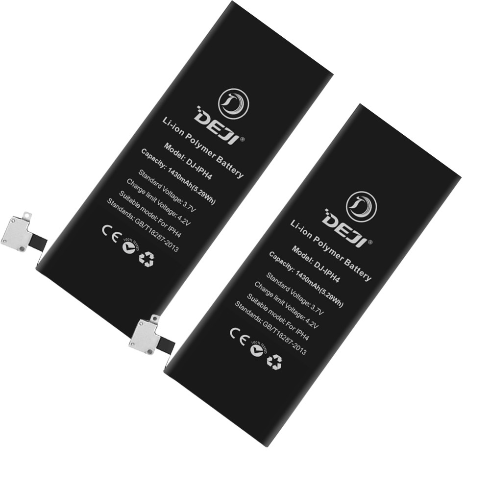 3.7V ~ 4.2V 1500mAh mobile phone battery for iPhone 4 4s