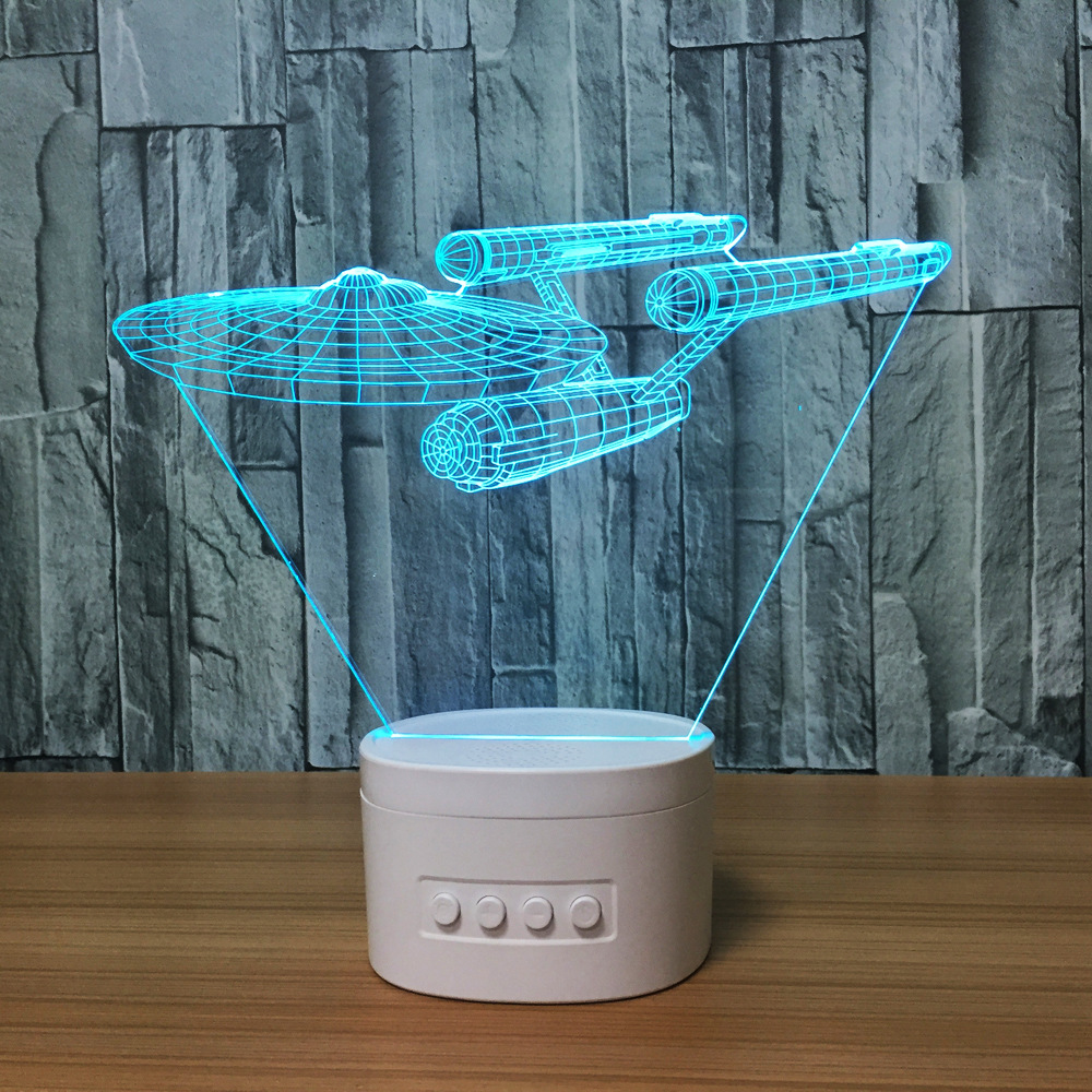 Acrylic 7 Colorful 3D Illusion Night Light Bluetooth Speaker 3D Night Light