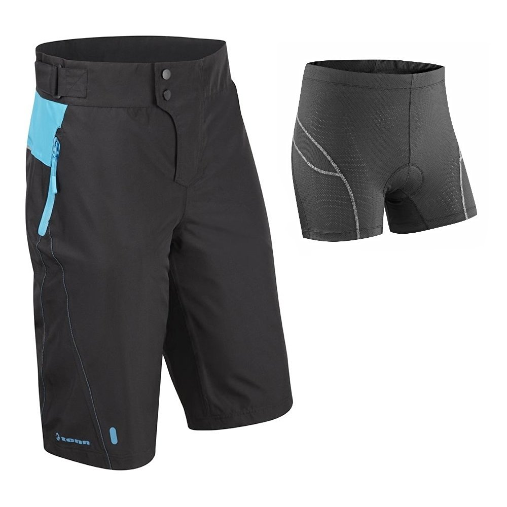 Tenn Mens Protean MTB Cycling Shorts + Padded Boxers Combo