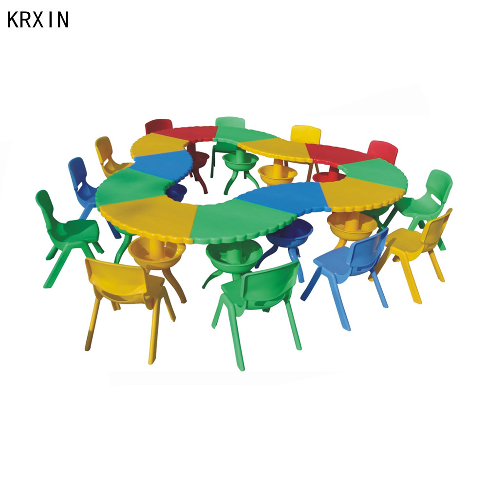 plastic assembled indoor kids play table