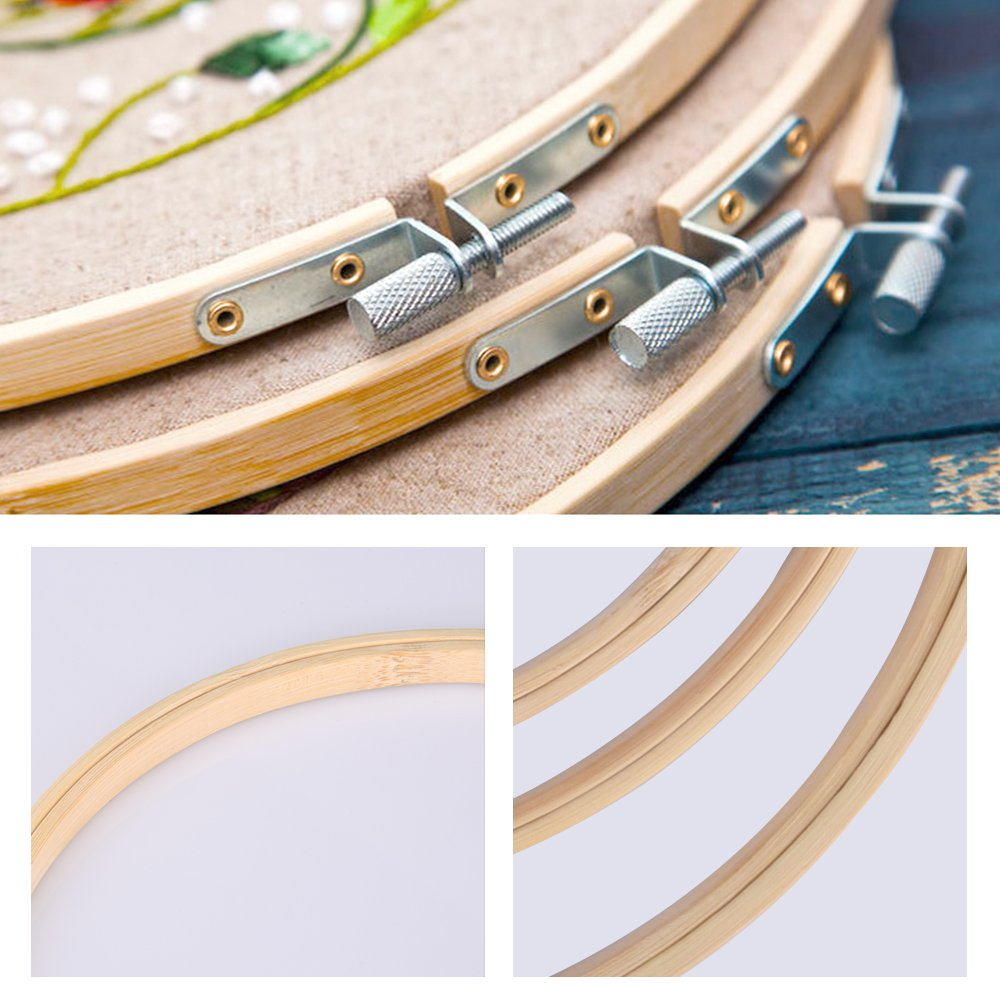 Bamboe Embroidery Hoop Ring Frame Set DIY Kruissteek Machine Naaien Accessoires DIY Kruissteek Naald Craft