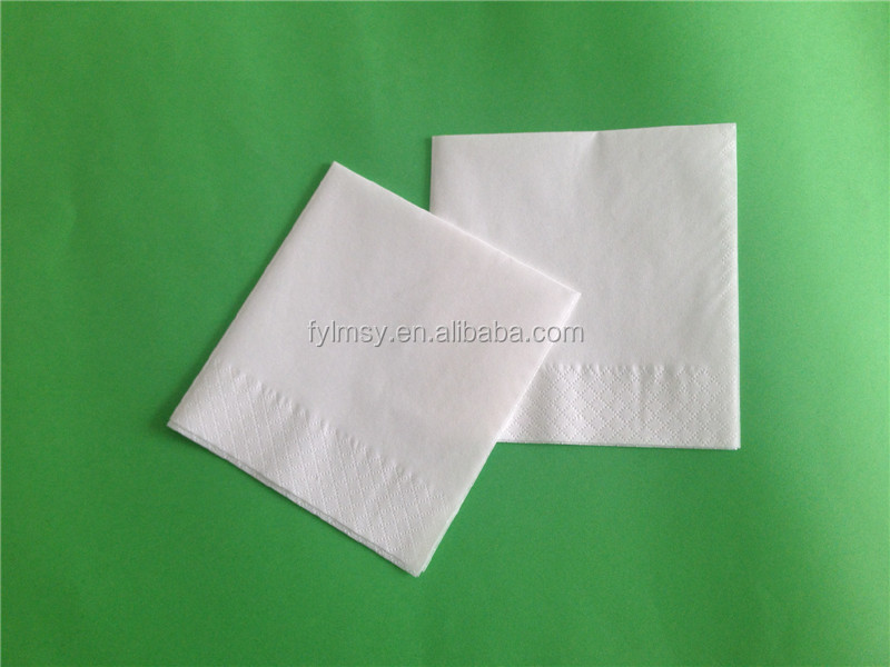 OEM lunch napkin with logo printing 1/4 fold paper napkin