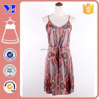 Summer rayon material women garments factories in guangzhou clothing