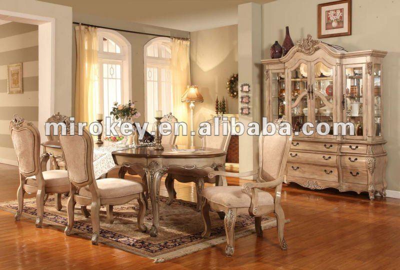 Antiguos muebles de comedor tradicional de madera juego for Muebles de comedor antiguos