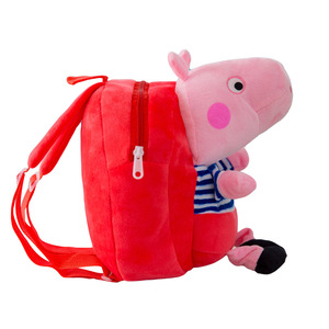 Kindergarten pig backpack cartoon children plush toy small bag 1-3 years old baby early education Qi Meng backpack for children