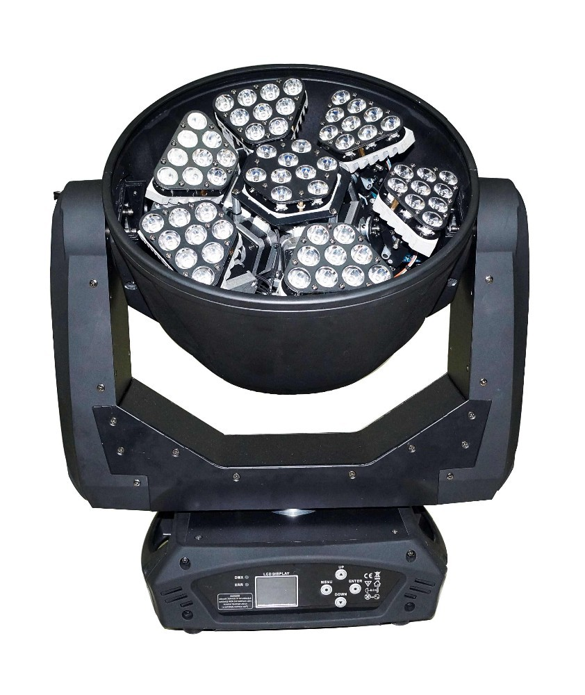 Scene design and stage lighting 63pcs 3w unlimited rotation led mini beam wash moving head