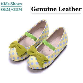 New style leather little girl shoes rubber outsole dance shoes Girls Flat  Shoes