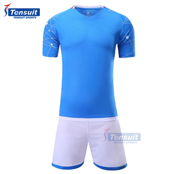 df81307ce63 Wholesale custom soccer jersey real football kits uniform made in China new  season blank jersey polyester
